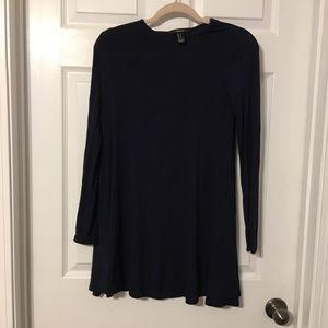 Navy long sleeve dress